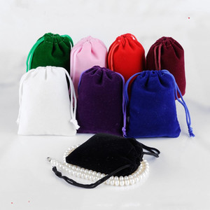 17*23CM Large Drawstring Bag Wedding Favor Jewelry Pouches Makeup Packing Gift Velvet Pouch Sack Storage Bag Jewelry Packaging T2I5617