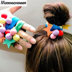 High Elastic Colour Hair Tie Star Hair Band Ponytail Holder Women Rope Many  Scrunchies Girls Sweet Accessories