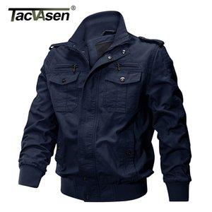 TACVASEN chaquetas de invierno militar de Airsoft Bombardero Escudo de la Fuerza Aérea Piloto de carga Casual chaqueta de los hombres Ropa T200102