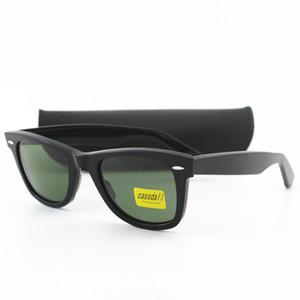 Di alta qualità Cassdall occhiali da sole per gli uomini delle donne di stile occidentale classico telaio di guida Big Angolo Plank occhiali da sole UV400 verde 50mm len con box