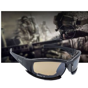 Military Goggles Bullet-proof Army X7 Polarized Sunglasses 4 Lens Hunting Shooting Airsoft Cycling Full Finger Motorcycle Glasse MX190817