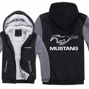 Толстовка с капюшоном Ford Mustang Winter Mans Мужская повседневная шерстяная подкладка Флисовое пальто Manust 50 лет Толстовки ПуловерMX190830