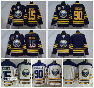 Sabres Jersey Buffalo Ice Hockey 90 Ryan OReilly Maglie O Reilly Uniforms 15 Jack Eichel Bandiera USA Bianco Blu Bianco Colore Alta Qualità