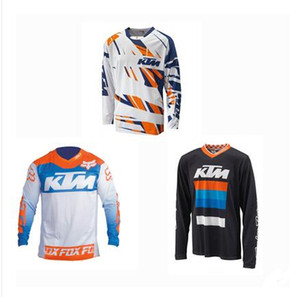 KTM лиса голову падение скорости костюм бездорожье футболку езда костюм рубашка мужская с длинным рукавом летом горный велосипед внедорожных мотоциклов одежды на заказ