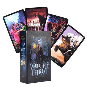 Witch Tarot Deck 78 Carte Indicatore destino futuro Previsione Tavolo Carte regalo Gioco Gioco da tavolo