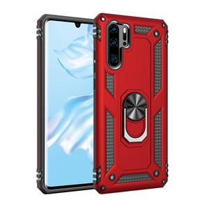 Funda de anillo de soporte de coche para Huawei Mate 30 Pro Funda de teléfono dura de goma a prueba de golpes para Huawei P30 Pro Mate 20X 20Pro Fundas