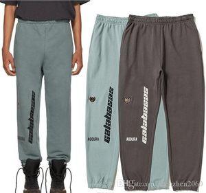 Sezon 5 Calabasas Pantolon Sweatpants Erkekler Kadınlar Kanye West Koşucular Streetwear Hip Hop Pantolon İpli OVERSIZE Calabasas Pantolon