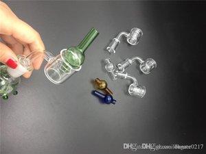 high quality Set XXL Quartz Banger nail+Bubble carb cap Double Tube Quartz Thermal Banger Nail for glass bongs oil rigs and water smoking