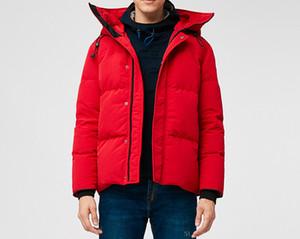 piumino degli uomini di inverno di lusso Mac parka panno impermeabile nessun lupo media collo di pelliccia di stile spesso piumino