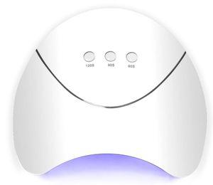 Lámpara UV UV de 36W Secador de uñas Lámpara LED para uñas 12pcs Lámpara de uñas LED para curar todos los geles con sensor de carga USB Nail Art