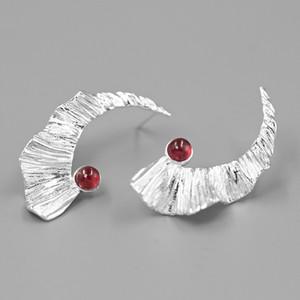 INATURE de prata esterlina 925 asas pedra natural pena de fadas brincos para mulheres moda jóias brincos