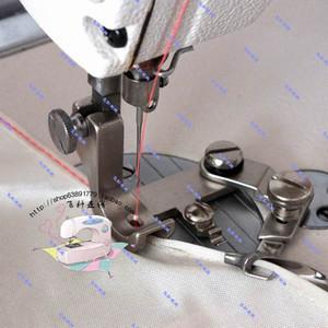 Máquina de coser industrial de accesorios planas gasa Curl borde del prensatelas Hem de borde curvado Presser Pies tirador de grifo