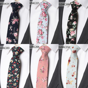 Necktie Neck Tie Set Men Fashionable Cotton Flower Ties Classical Colorful Floral Lovely Neck Ties Mens Skinny Wedding Party Gift Tie