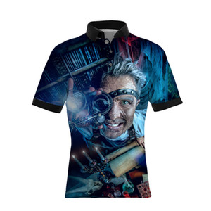 19SS Hot Sellers Neue 3 D Digitaldruck Männer Casual Polo Shirts GROßE GRÖßE Herren Designer T Shirts Lose Version