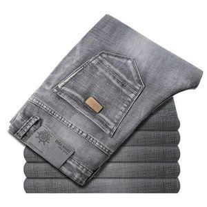 Jeans Männer 2020 New Business Fashion Stretch Denim klassischer Art-Männer Regular Fit Stragith Jeans Grau Jean Hose männlich Hosen