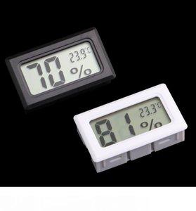 소형 디지털 방식으로 LCD 는 온도계 습도계 온도 습도 미터 실내 온도계 검정 백색을 끼워넣었습니다