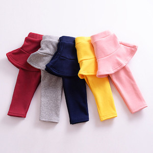 Girls Leggings Children Candy Colors Fake two pieces Skirt Pants Autumn Winter Baby Tights High Qulity Pants Kids Clothing