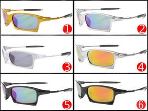 2017 nuevos hombres de la manera de la bicicleta gafas de sol de cristal gafas deportivas gafas de sol de conducción ciclismo 6 colores de buena calidad envío gratis