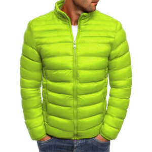 Fashion-Solid Designer Winter Jacket Long Sleeve Brief Warm Parkas With Zipper Thick Mens Casual Coats