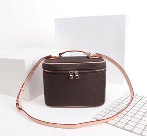 Moda Bolsas saco de Beauty Bag Balde para as mulheres Caso Cosmetic Orignal do saco das mulheres de couro ombro Tote handbags bolsa de maquiagem presbyopic