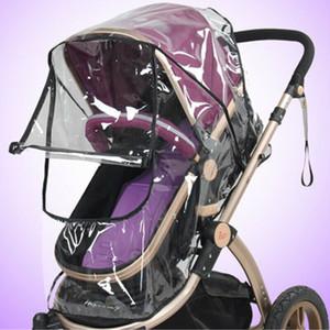 Universal Baby Stroller Raincover Pushchair Pram Buggy Transparente chuva cobrir escudo de vento