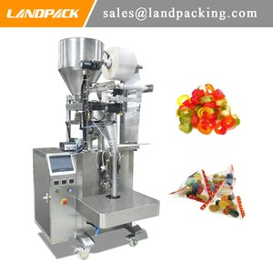 Otomatik Şeker Sakızlı Şeker Üçgen Torba Paketleme Makinesi Granül Dikey Form Dolum Makinesi