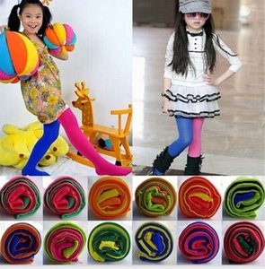 Colore della caramella Collant misti per le ragazze Patchwork neonata Stretch pantaloni Pantaloni a sigaretta bambini Danza calzamaglia Pantyhose 3-12Y