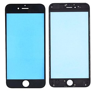 For iPhone 6 6 Plus 6s 6s Plus 7 7 P 8 8 Plus Front Glass Outer Lens Touch Screen Cover With Frame Bezel Replacement Part