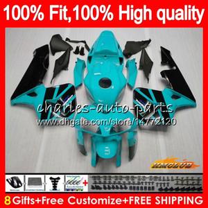 Injeção 100% apto para HONDA ciano kit preto novo CBR600RR CBR600F5 CBR600 RR 2005 80HC.311 CBR 600 RR 600RR 600F5 F5 05 2006 05 06 OEM Fairing