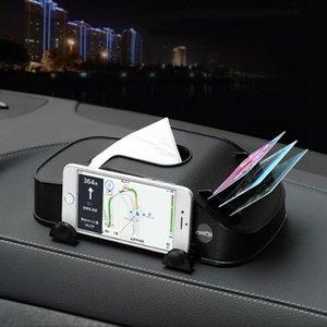 3 in1 Car Tissue Box Holder Mobile Phone Stand Napkin Case Holder Auto Interior Storage Decoration Car Accessories