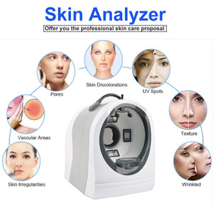 Самый последний портативный UV + RGB+PL light Magic Mirror digital facial analysis system scanner all-in-one 3D facial skin analyzer
