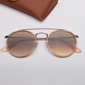 Occhiali da sole rotondi di moda donna occhiali da sole des lunettes de soleil mens occhiali da sole ray con pelle di alta e adesivo