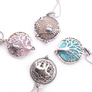 Aroma Diffuser Necklace Open Lockets Pendant Perfume Essential Oil Locket Chain length 60mm Wholesale each get one free pad