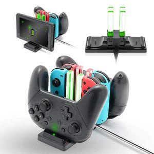 Ladestation für Nintend Schalter Joy-con-Controller LED-Typ-C-Ladegerät für Nintendo Switch Pro Gamepad Lade NS-Schalter Stehen