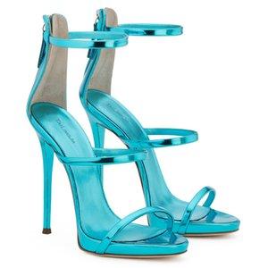 Wed2019 Mit High Ma'am Lackleder Sandalen Code Neueste Mode Schuh Chengdu Damenschuhe
