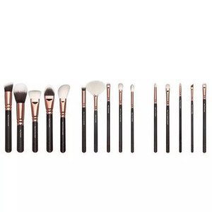 Make up Brushes kit 15pcs Rose Gold brush + bag Professional Face and Eye Shadow Make Up Tools Eyeliner Powder Foundation Blending brush Set