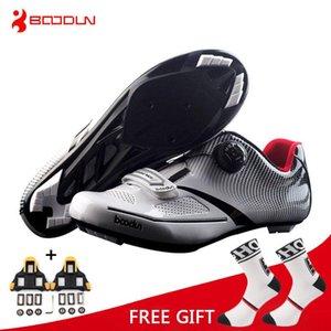 Boodun تنفس برو ذاتية الغلق الدراجات أحذية الطريق دراجة دراجة أحذية خفيفة رياضي سباق احذية Zapatos Ciclismo