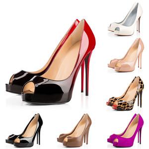 Mode de luxe de femmes Chaussures à talons rouges Bas Alors Kate Très Prive de Spike Fish Mouth chausseurs point Toe Pumps Chaussures de sport 35-42