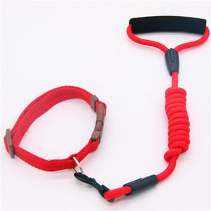 Cuello y tracción Cuerda de tracción Cuello de perro Nylon PET FORMA DE PETH PARA PERROS MEDIANTES PERRIR PUPPY 7 COLORES 4 TAMAÑOS 1.2M LUGAR