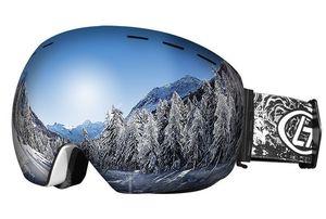2018 جديد المهنية نظارات التزلج على الجليد الرجال النساء مزدوجة الطبقات مكافحة الضباب نظارات التزلج الثلوج قناع تزلج نظارات تزلج غوغل C18110301