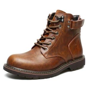 2019 Hot Men Boots Autumn Winter Men Boots Vintage Style Men Shoes Casual Fashion High-Cut Lace-up Warm Hombre