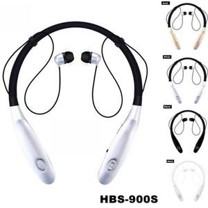 Auricolare Bluetooth da collo universale Sport Cuffie HBS 900s Auricolari senza fili Cuffie per mani libere con microfono ultime 15 ore V4.0 per telefono