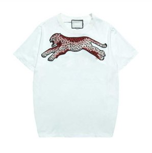 Summer T Shirt For Men Fashion T shirts With Letters Animal Printted Short Sleeve Mens Top Tee Clothing 2 Colors S-2XL