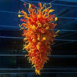 Lüks Büyük Altın Kristal Avize Aydınlatma Büyük Cristal kolye Lustres Işık Armatür Hotel Restaurant Projesi için Cam Avize Üflemeli