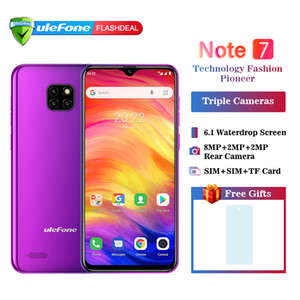 "2019 НОВЫЙ Ulefone Note 7 Смартфон 3500mAh 19: 9 Quad Core 6.1 ""Android8.1 Waterdrop Экран 1 ГБ RAM 16 ГБ ROM WCDMA Мобильный телефон"