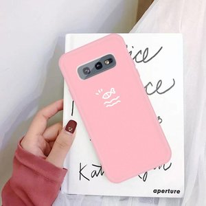 For Galaxy S10 Little Fish Pattern Frosted TPU Protective Case