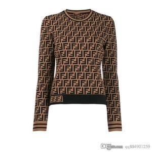 Printemps Manteau Veste manches longues pour femmes Crew Neck Pulls Lettre broderie jacquard Pull femmes Designer Taille S Pull-L