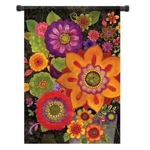 28x40 12.5x18 Florals in autunno Benvenuti Bandiere Casa giardino cantiere Banner DecorationsFlorals in Fall visualizza un'illustrazione colorata di contrasto