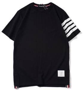 T-shirt couples chemise étudiant femmes chemise lâche imprimé TB coton hommes nouveaux de la marque de marée manches courtes