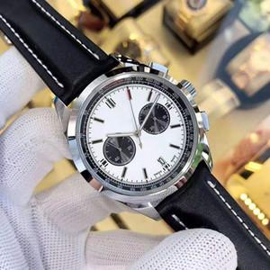 Hombres Movimiento más reciente B01 para hombre del cronógrafo relojes de diseño orologio di Lusso Japón reloj de cuarzo relojes de pulsera de cuero correa de sexo masculino Montré